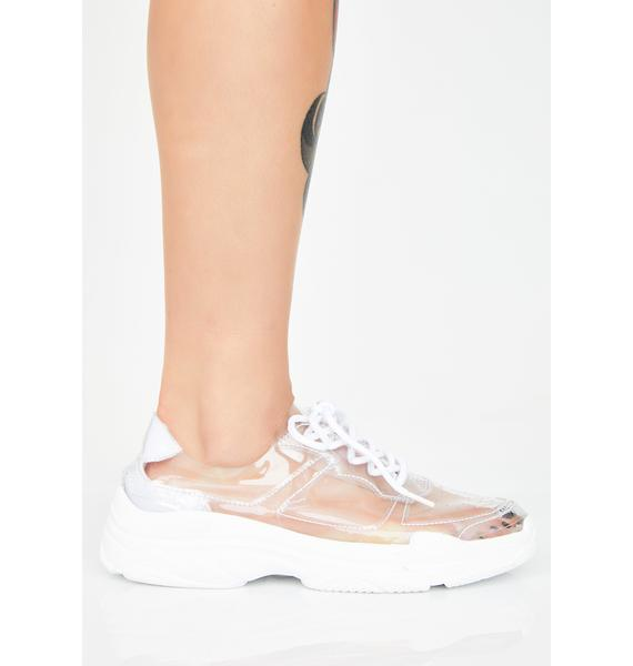 Iced Clearly Cray Cray PVC Sneakers