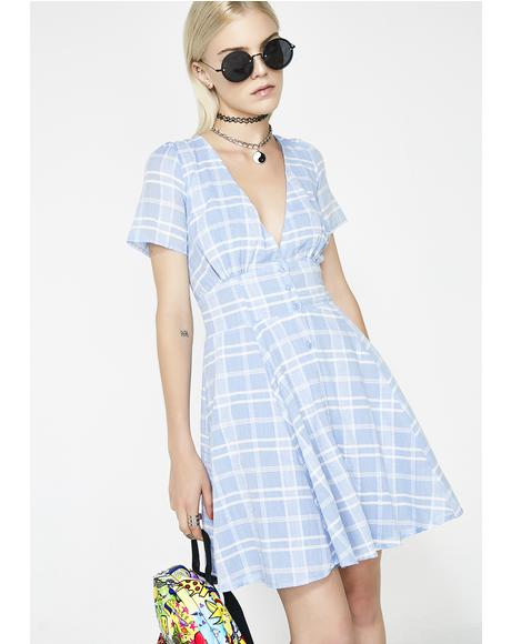 Too Hotty Plaid Dress