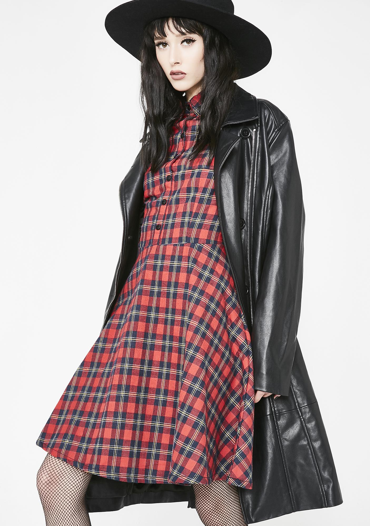 bf65081de15 ... Sourpuss Clothing Plaid Button Down Dress ...