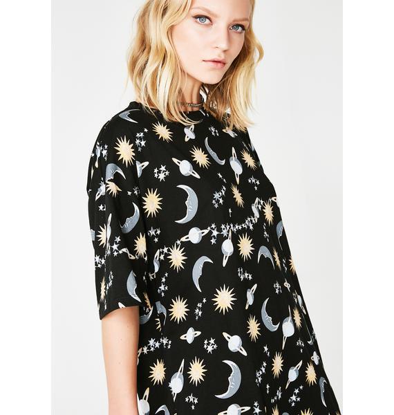 Motel Sunny Kiss T-Shirt Dress