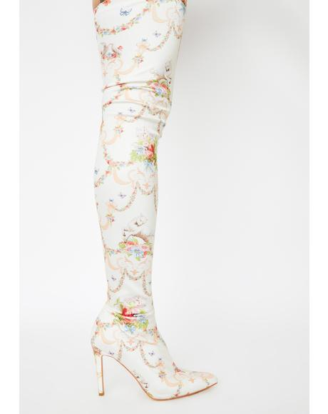 Lush Opulence Thigh High Boots