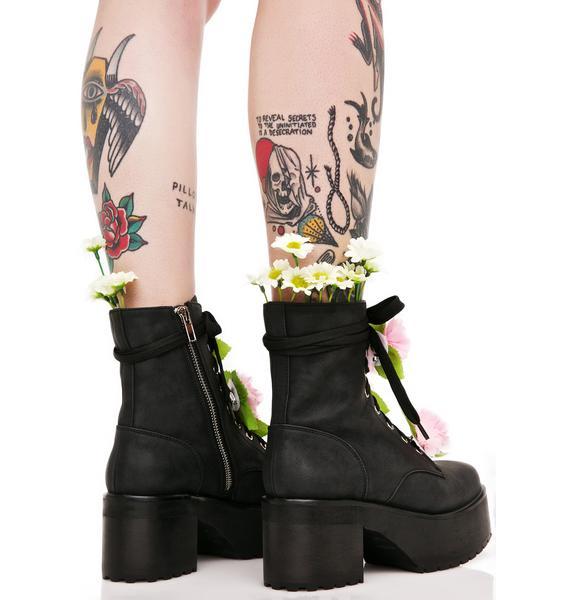 Sugar Thrillz Grunge Petals Boots