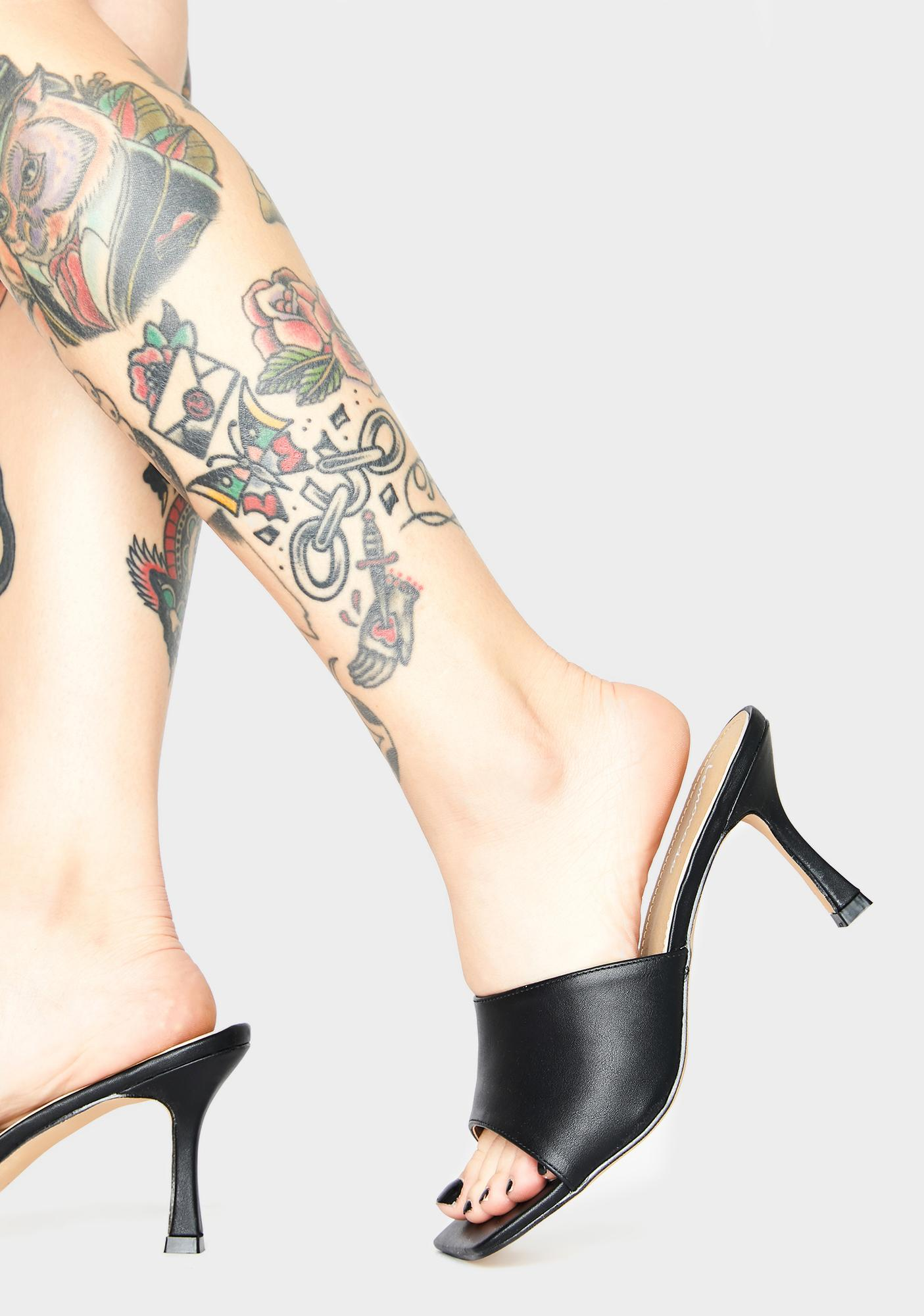 Night Clearly Classy Peep Toe Heels