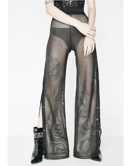 Schemin' Demon Fishnet Trousers