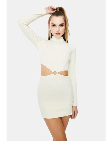 Luna Long Sleeve Cut Out Dress