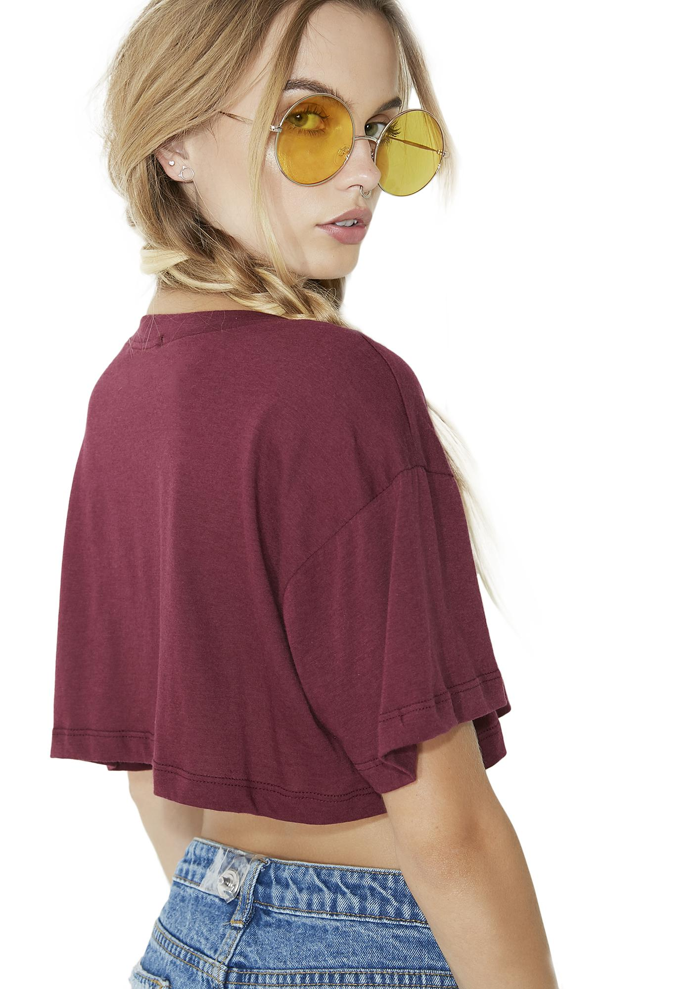 Lux Rainbow Cropped Tee