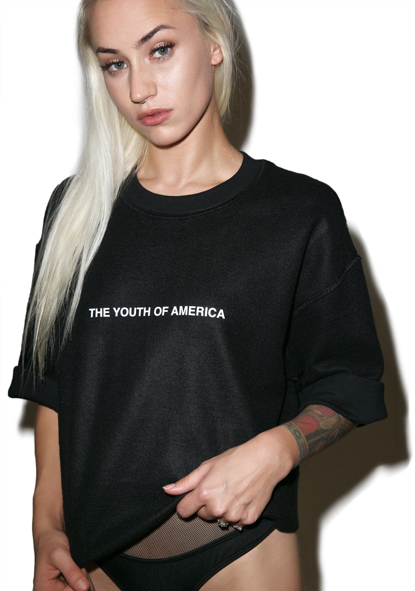 Danielle Guizio Youth Of America Sweatshirt Tee