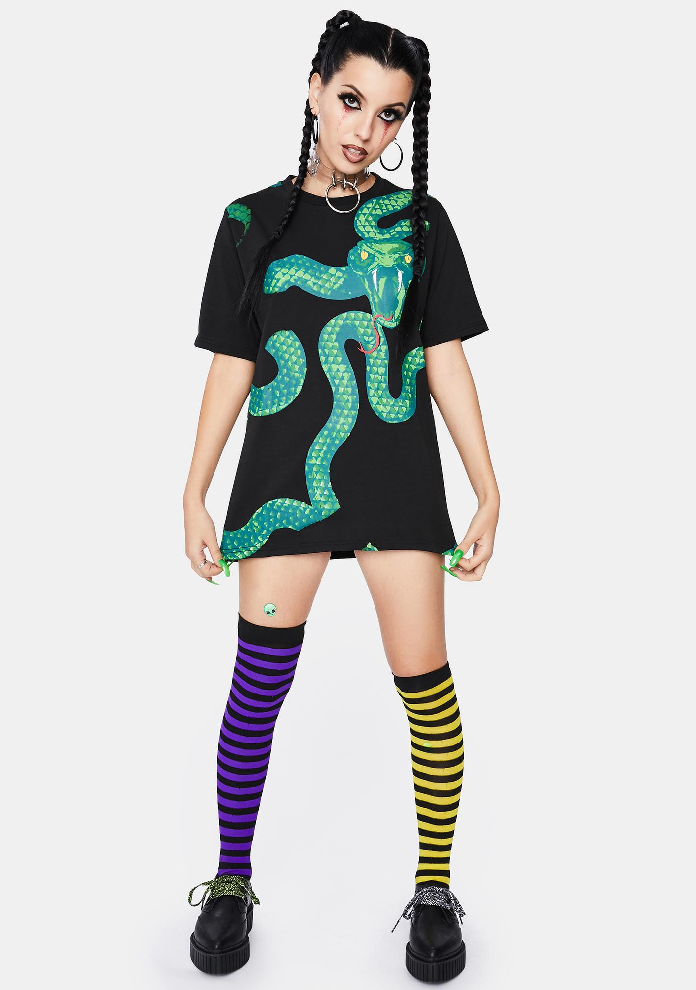 Dr. Faust Green Snake God Graphic Tee