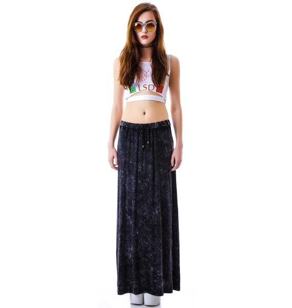 Open Road Stone Wash Maxi Skirt
