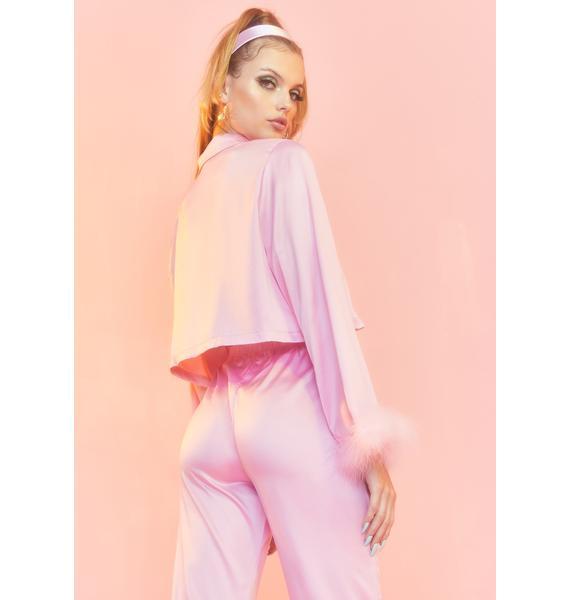 Sugar Thrillz Lover's Quarrel Satin Pajama Shirt