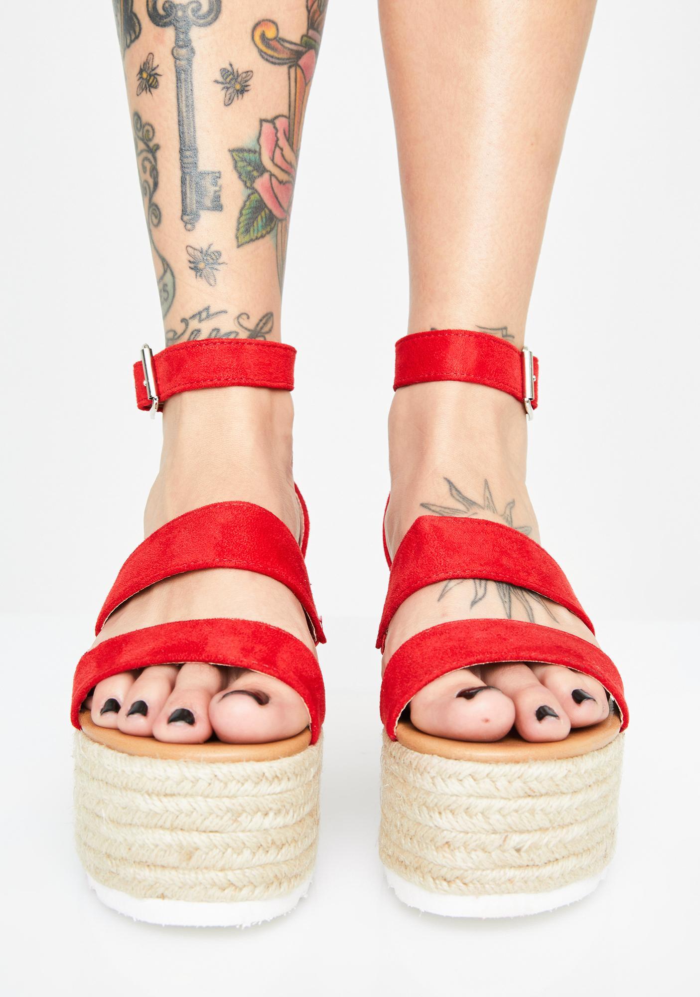 Hott Bossy Baby Platform Sandals