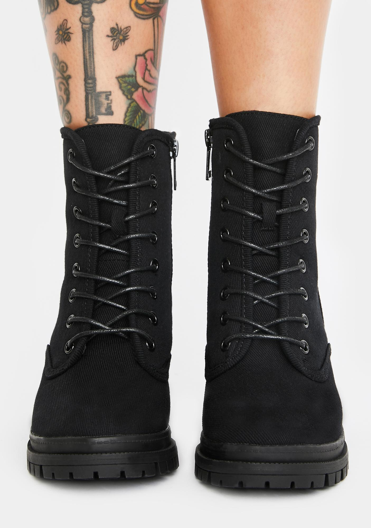 Sly Tricks Combat Boots