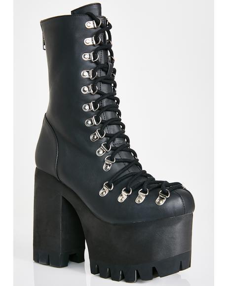 Black Ice Platform Boots
