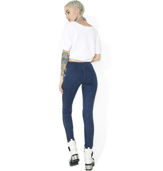 Rollin' Out Distressed Skinny Jeans