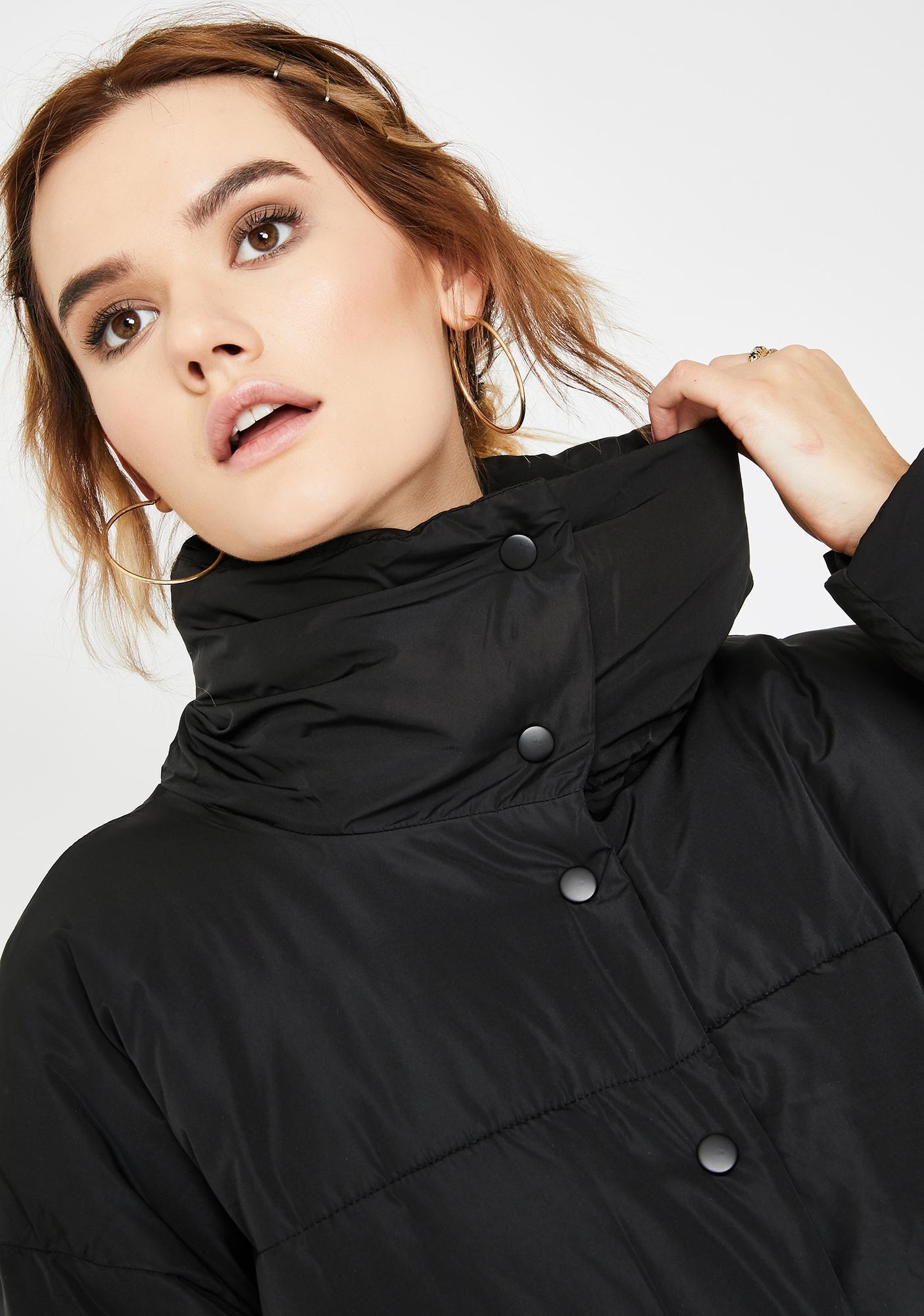 Free People Black Weekend Puffer Jacket