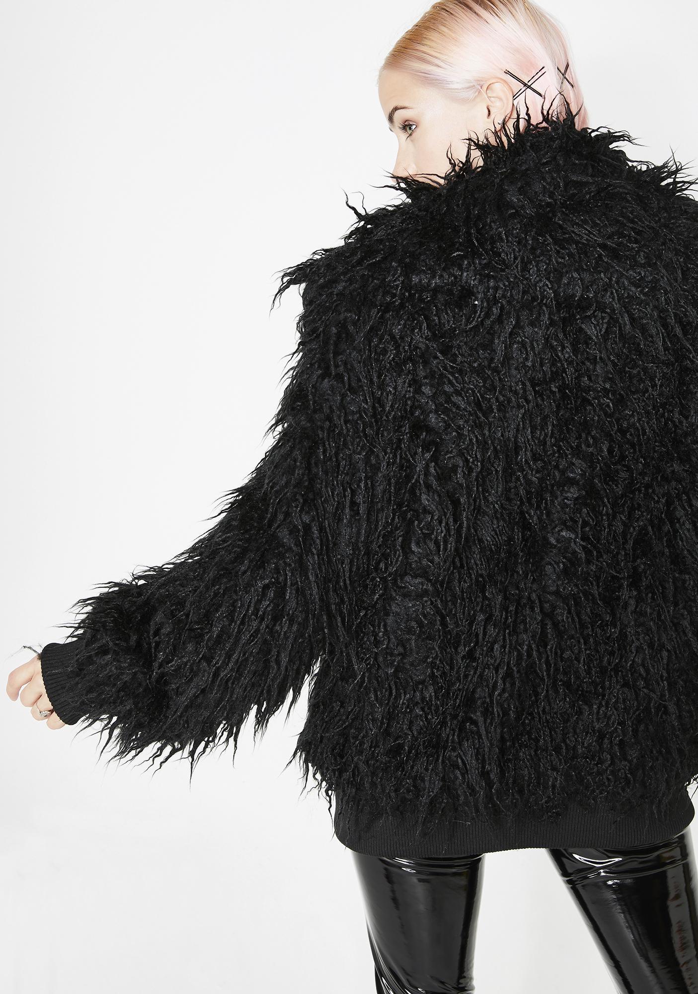 Current Mood Midnight Monster Shaggy Jacket