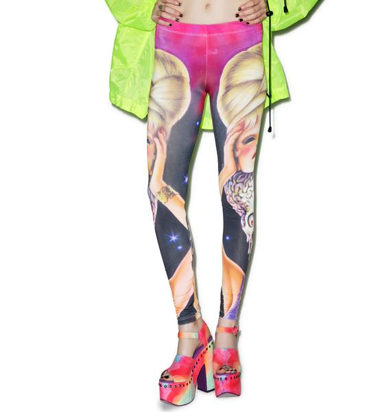 Kreepsville 666 Mars Attacks Spy Girl Leggings