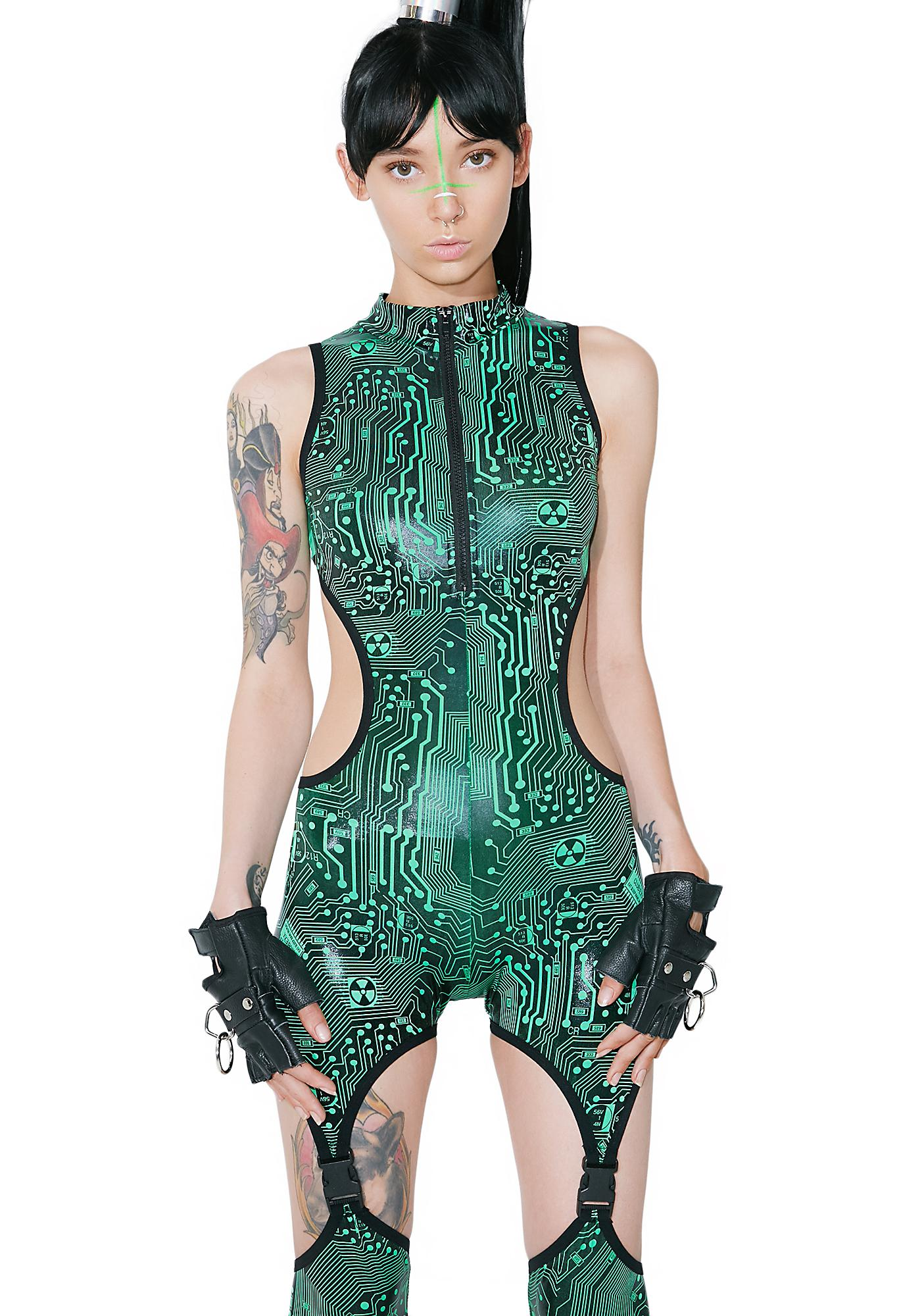 Club Exx Circuit Trippin' Cut-Out Catsuit