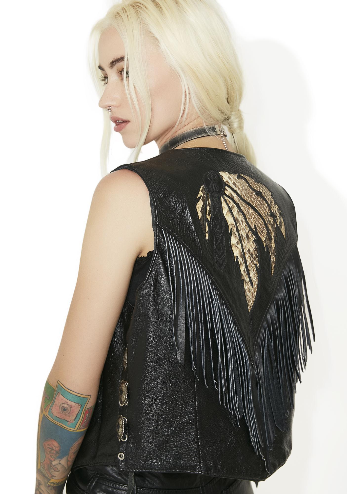 Vintage Snakeskin Leather Vest