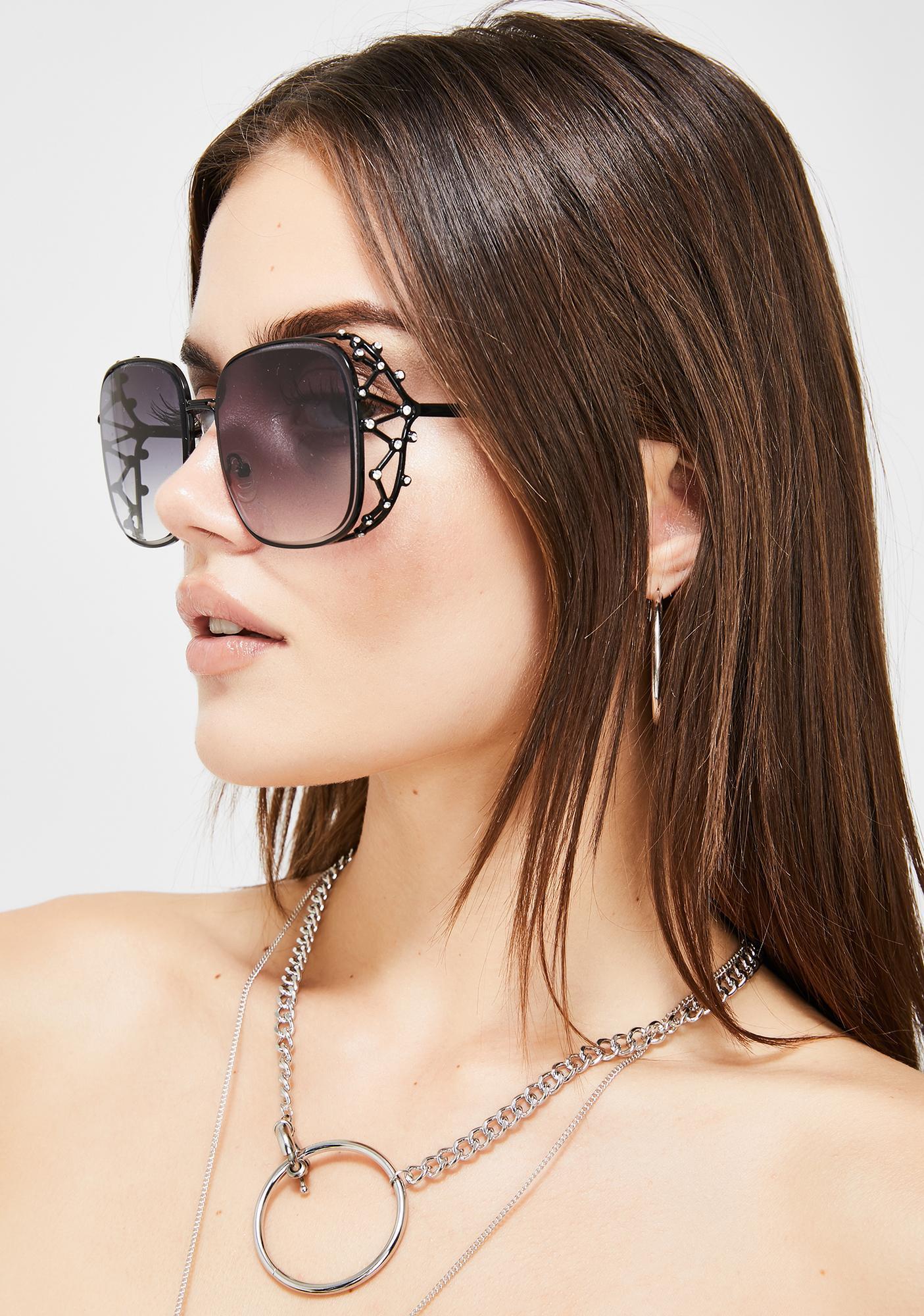 Ridin' Around Dipped Oversized Sunglasses