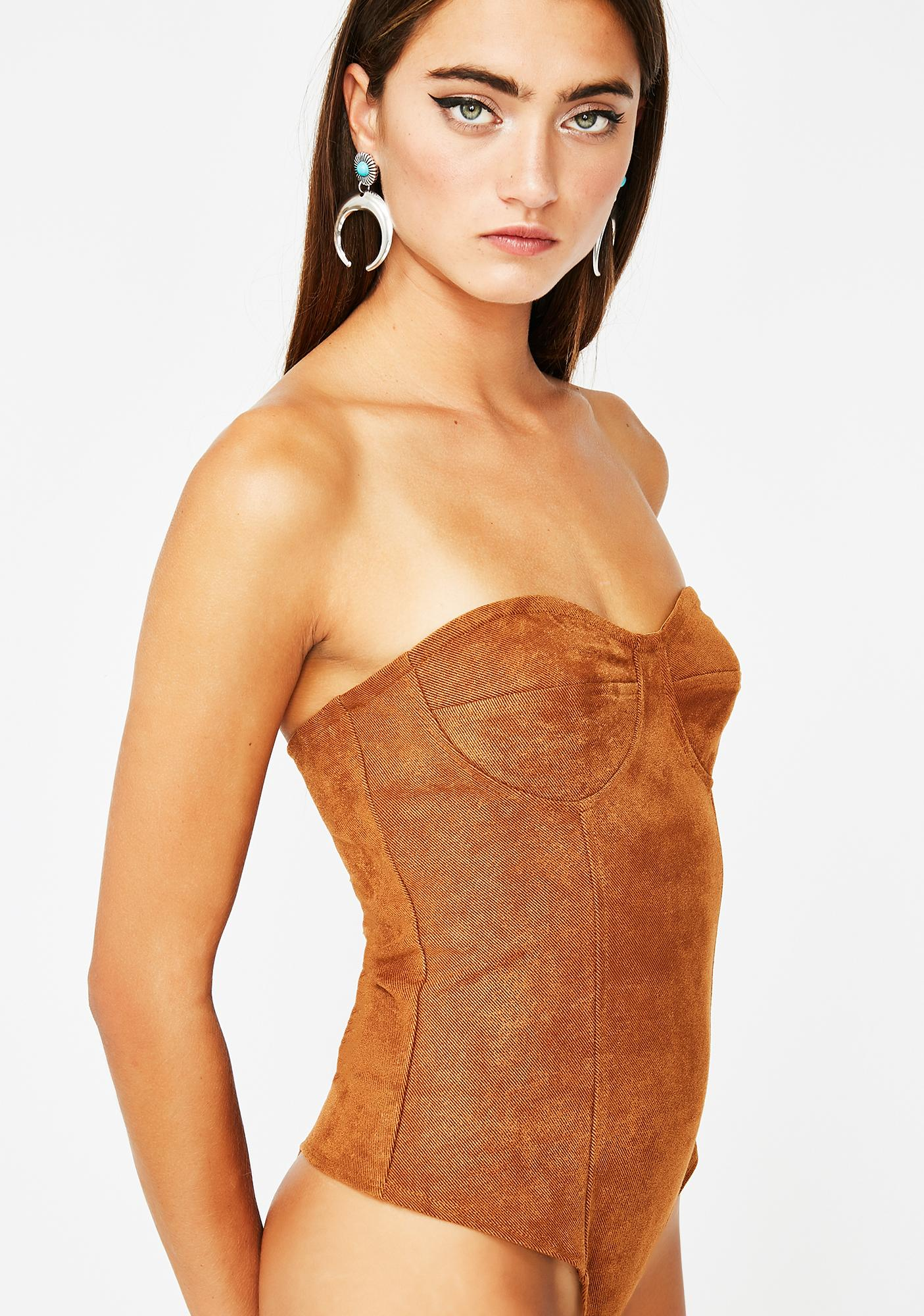 Too Cocky Bustier Bodysuit