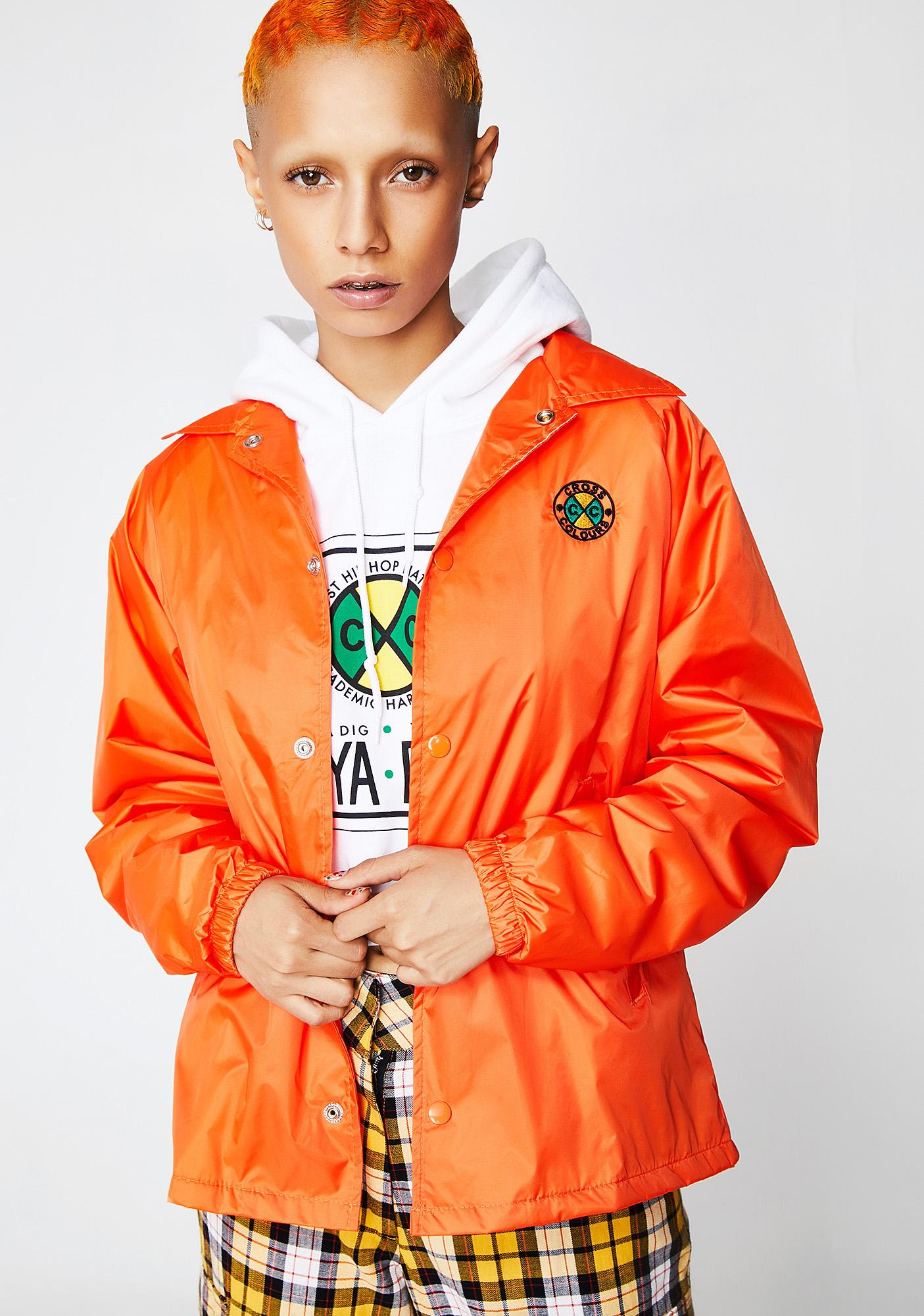 Cross Colours Solid Coach Jacket