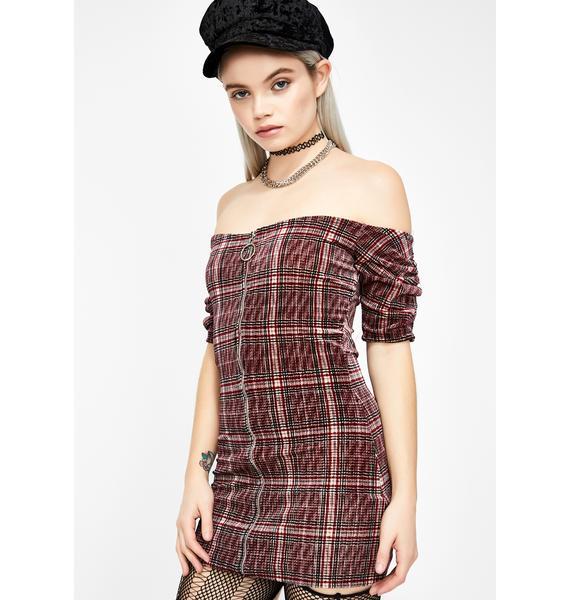 False Rumors Velvet Dress