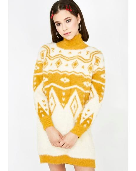 Cordially Cozy Sweater Dress