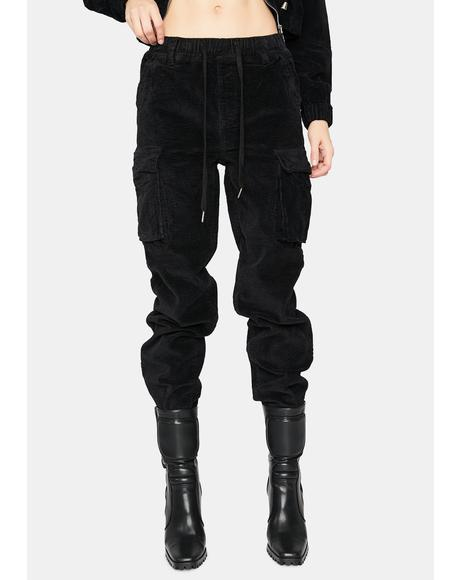 Dark I Know Places Cargo Joggers
