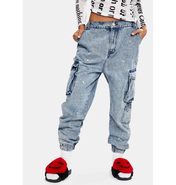 Joyrich Blue Cargo Jeans