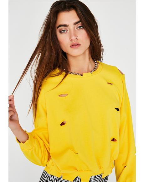 Bodak Yellow Distressed Sweatshirt