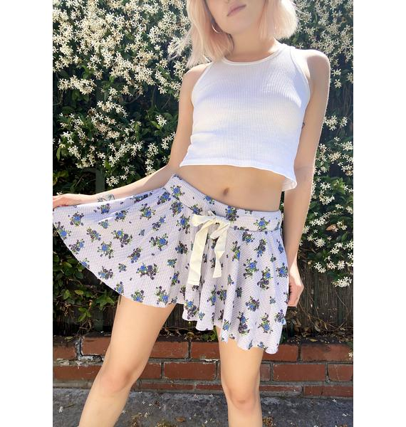 Free People Blue Floral One Of The Girls Lounge Shorts