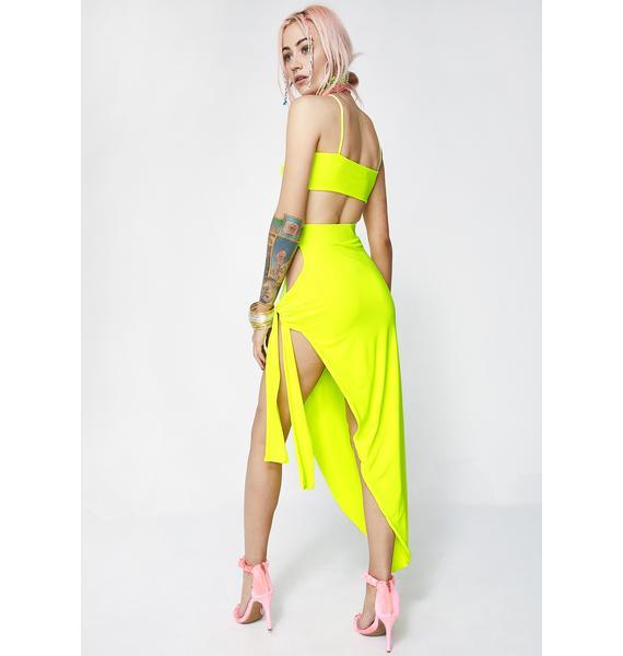 Live Fast Asymmetrical Skirt