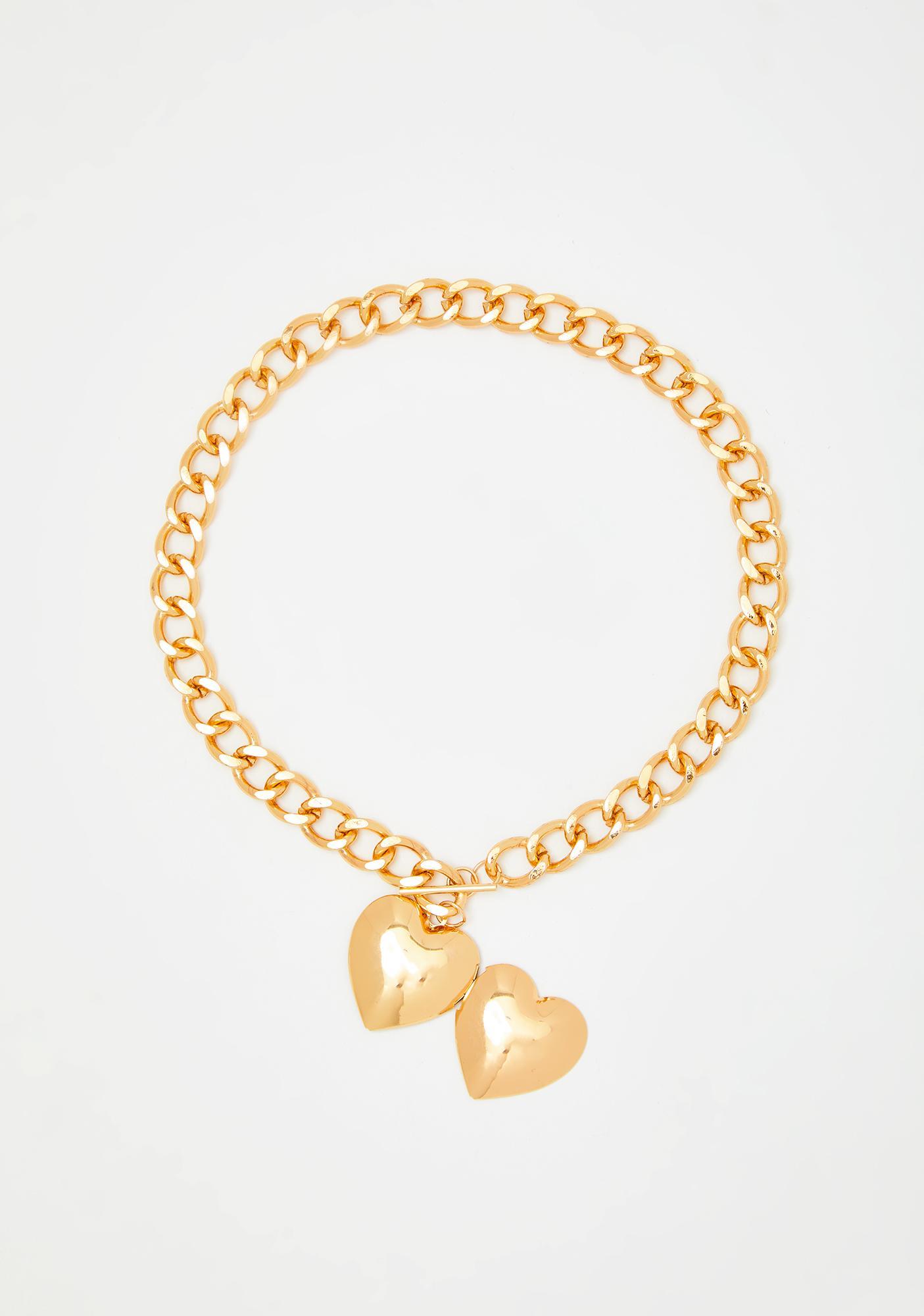 Precious Two Of Hearts Locket Necklace