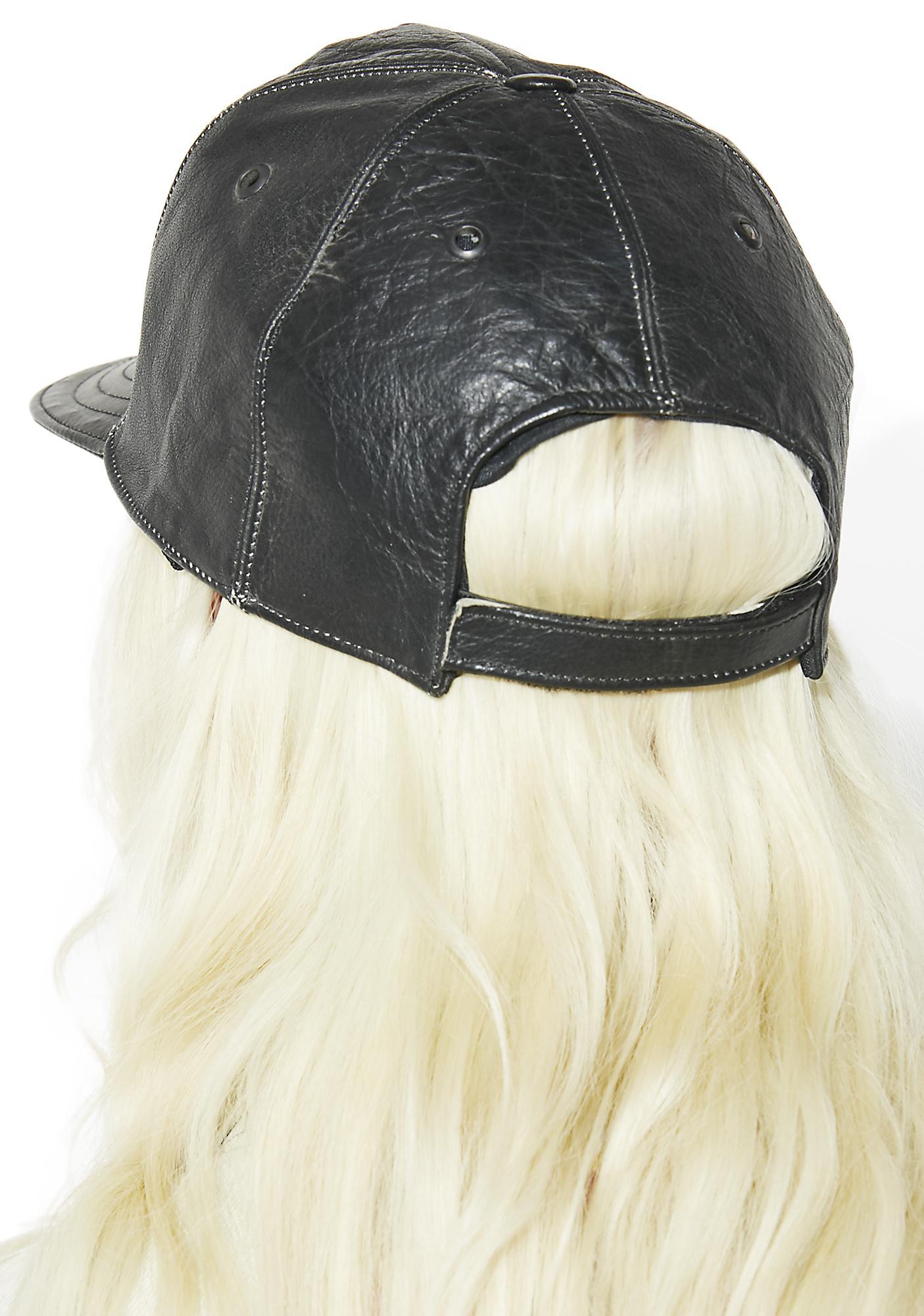 Vintage Harley Leather Hat