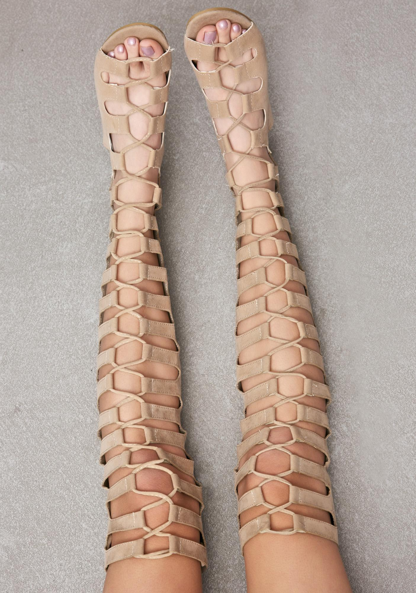 Nude Resist Lace-Up Sandals