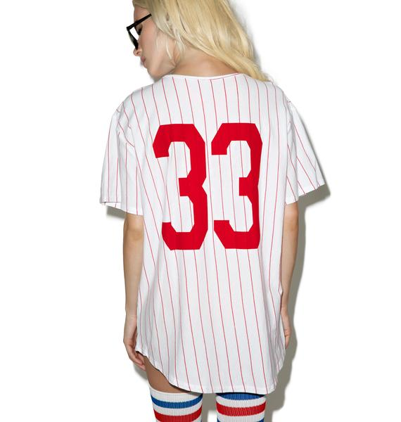 Outta Left Field Baseball Tee