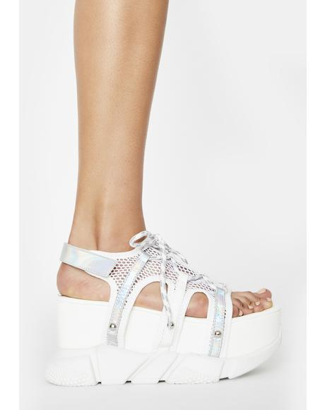 Angel Up In Space Platform Sandals