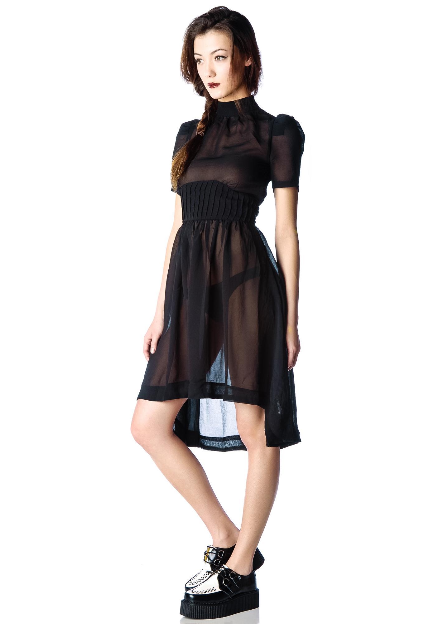6c08451df13 ... Widow Funeral Society Chiffon Dress ...