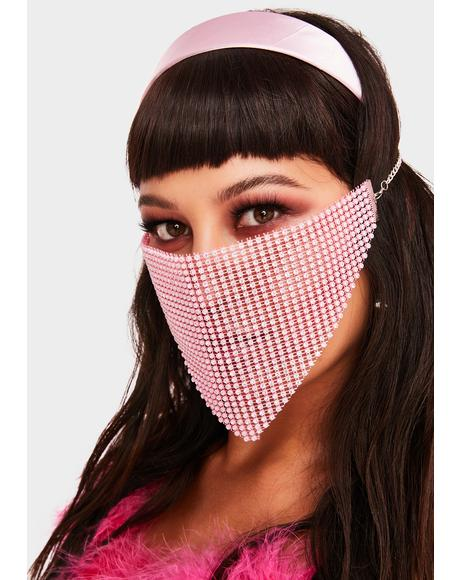 Pretty Protection Rhinestone Face Mask