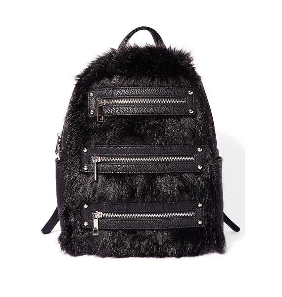 Current Mood Faux Fur Realz Backpack