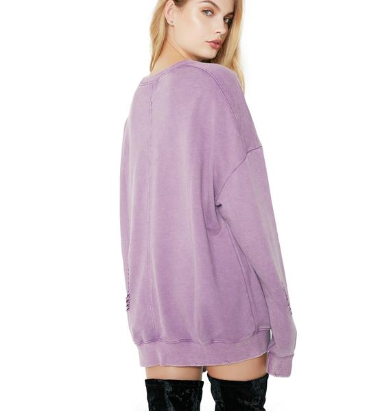No Stress Distressed Pullover
