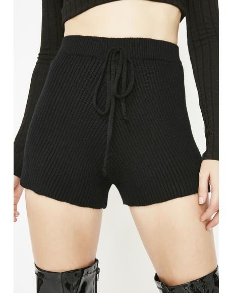 Sweater Weather Knit Shorts