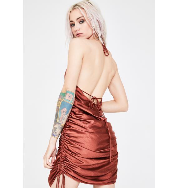 Lioness Rust String Along Mini Dress