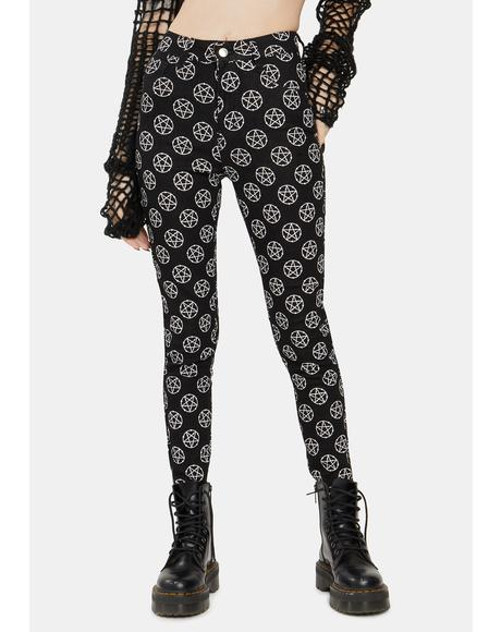 Pentagram Skinny Jeans