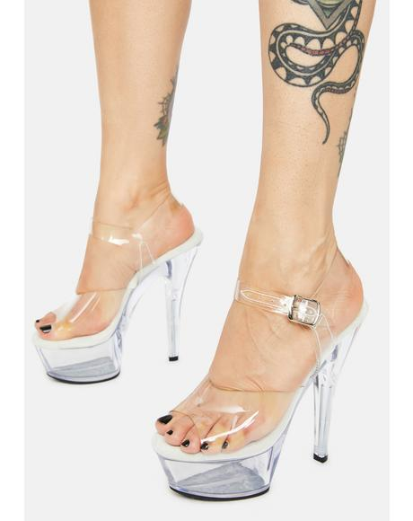 Clear Kiss Me Softly Platform Heels