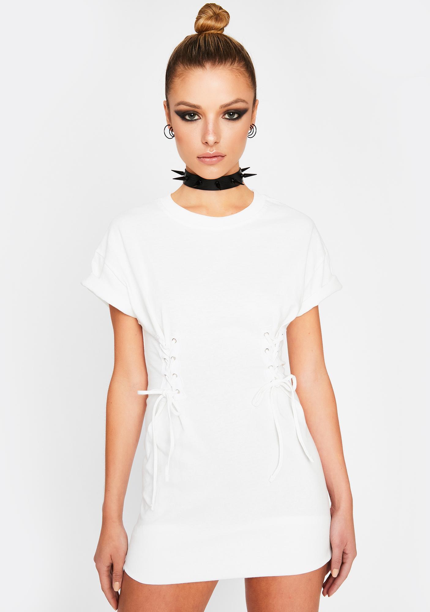 Ivory Grim Chaos Corset Dress