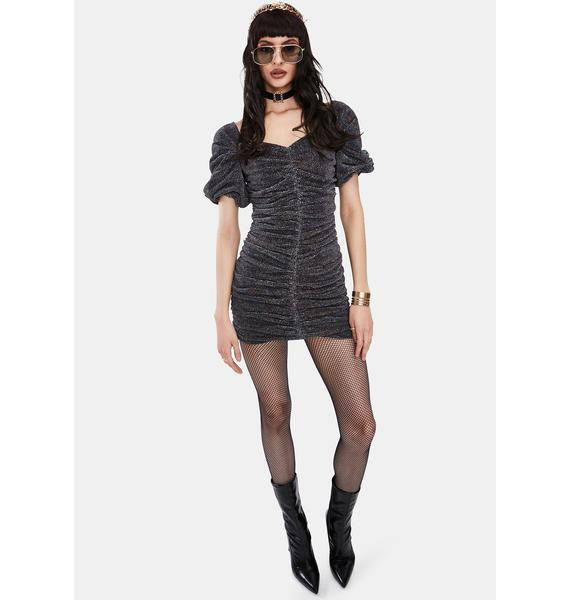 ASTR THE LABEL Joplin Metallic Ruched Mini Dress