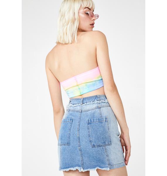 Bombshell BB Denim Skirt