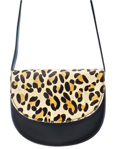 Yer Spot On Leopard Crossbody Bag